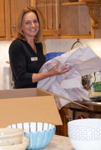 ShipShape Organize during kitchen unpack